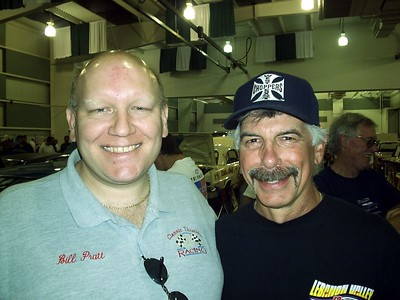 Bill and classic Corvette drag racer Louis Vernarelli. Photo by Emily