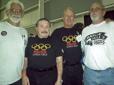 Northeast gasser stars Fred Bear, Gene Altizer, Dave Hales and Pork Zartman.