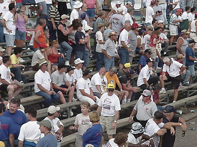A nice crowd of folks enjoyed the 2006 Beaver Springs Nostalgia Classic on the pit side, despite threatening weather forecasts.