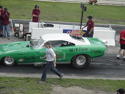 "Army Armstrong had his Al Vanderwoude ""Flying Dutchman"" tribute car out and running on methanol. He faced the Rubber City Connection Trans Am of Denny Salzwimmer."