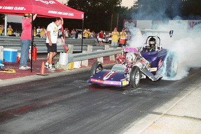 Chet Bain captures the beginning of Rapid Randy's burnout, an effort that went for the ENTIRE eighth mile length of Eddyville Raceway Park! The crowd went wild!