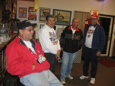 "MInutes away from the Stoney Creek Inn... Jeff Unfried, Bill, Bob Wenzelberger, and Jack ""Drag Times"" Redd... driving back to Maryland with Jack was another bonanza of old racing stories."