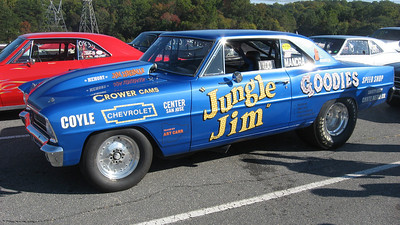 Brian Freels' Baltimore-based Jungle Jim tribute car looked and ran great. The 350 powered '66 Chevy II goes 10.50s at 128.