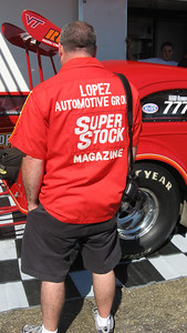 Dave Doctrow was on hand with his original Super Stock magazine crew shirt.