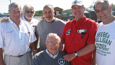 Some real East Coast drag racing legends here: Tom Sneden, Butch Martin, Fausto Marino, Jack Redd, (need this gentleman's name), and seated, Mr. Bob Banning Sr.