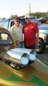 Dickie Walker and Jack Redd in front of Dickie's great looking new/old Willys.