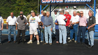 The call went out for East Coast drag racers from the 60s, and the guys lined up. The group included (not in order) Stephan Worn, Rich Storty, Jim Whetsell, Michael Benning, Wayne Shipley {raced since 1963, Track Champ in 1983), Melvin Swisher, Ron Beall (who won the Aquasco President's Cup in 1966), Johney Rousey (from Suffolk Dragway), Jim & Cathy Swagler, Joel Thomas, Dave Bishop, and Brent Embleton.