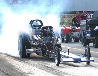 The Stanke Bros. Nostalgia Open Fuel car came down from Minnesota and won the top fuel match with veteran Mark Worden on board.