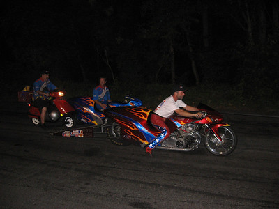 ADRL Pro Extreme Motorcycles were featured also. Nitrous assisted (Pro Mod) bikes were a blast, ran 7.20s at 180 plus.