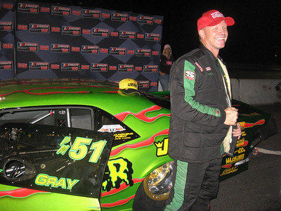 In an amazing story, local boy Tommy Gray took a three-day old car to the ADRL Pro Extreme title, defeating the top cars in the class along the way. Bret Kepner reminded Tommy of his similar victory at the 1993 IHRA President's Cup, where he took a nondescript Chevy Corvette to the Pro Modified title over several hitters. Consistency wins again.
