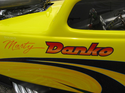 Danko and team have their sleek Fiat running well this year. Best 2009 times of 6.75 at 215 are right where they need to be for nostalgia AA/A matches.