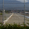 A view of the drag strip from the end of the track @ Fairplex Drive.
