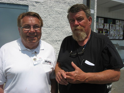 Sam Auxier, Jr., and Best of Times promoter Doug Rice.