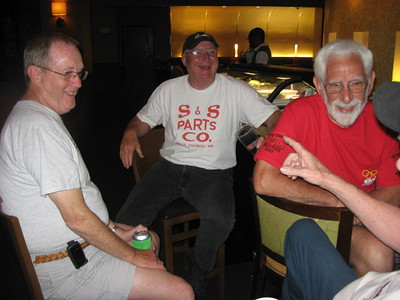 S&S Racing Team members Jack, Bill, and the legendary Fred Bear.
