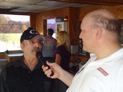 Bill Pratt interviews Nitro Nick Boninfante at the 2010 Capitol Raceway Nostalgia Nationals.