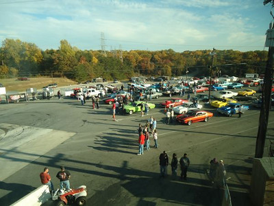 Staging lanes are packed at Capitol Raceway getting ready for round one.
