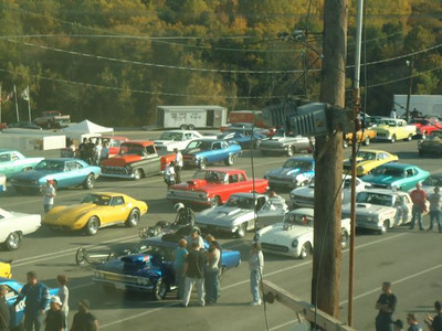 Staging lanes at Capitol Raceway.