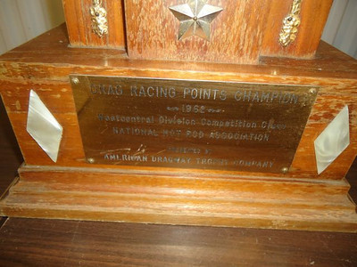 Chuck Hamann's NHRA Division 5 Competition Eliminator points championship trophy from 1962.
