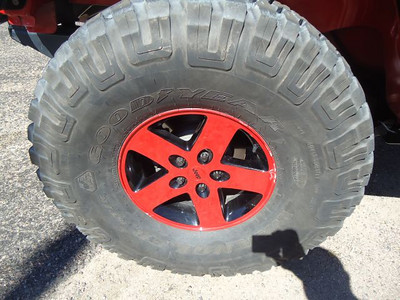 Mombo tires and wheels on Jack Schuler's Jeep.