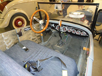 Interior of the Jim Ziegler roadster.