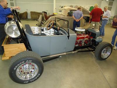 Darrell Zimmerman checks out Jim Ziegler's outstanding ALL STEEL roadster.