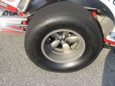 Bruce Larson rear slick detail.