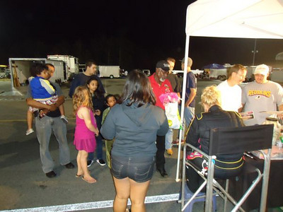 Bunny signs autographs for several generations of fans, as always.