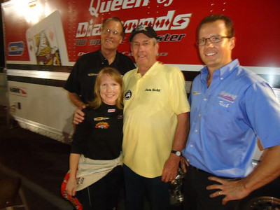 "Jack Redd ""Approves"" the Hanna Motorsports team, including Al, Jill Canuso, and Rich."