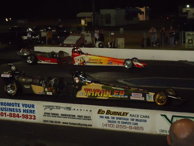Thriller Viper vs. Queen of DIamonds again. Flame show done...ready to race!