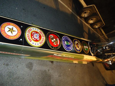 Thriller Viper displays emblems from all the major services.