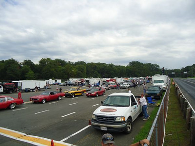 Tower view of the staging lanes...
