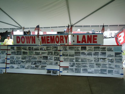 Julio Marra was on hand with his entertaining Down Memory Lane display of vintage drag racing photos.