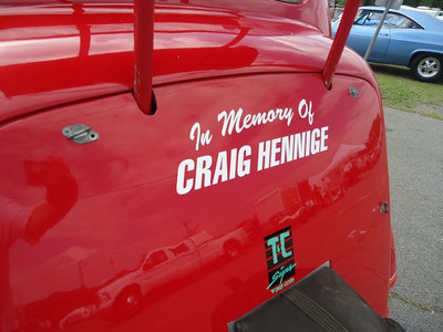 Whooppee Car paid tribute to original owner Craig Hennige on the back.