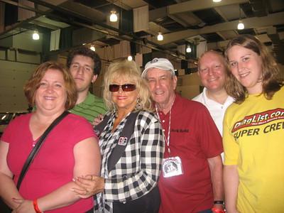 Linda Vaughn, Jack Redd, and the Pratt Family: Denise, Jason, Bill, and Emily.