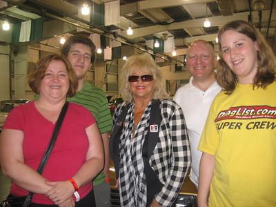 The Pratt Gang and Linda Vaughn. Denise, Jason, Linda, Bill, and Emily.