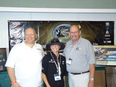 Project 1320 booth was well-managed by Steve Cole and Traci Hrudka and joined here by fellow member Bill Pratt.