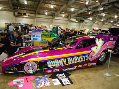 Bunny Burkett and the Boys were on hand with her new '79 Corvette nostalgia funny car.