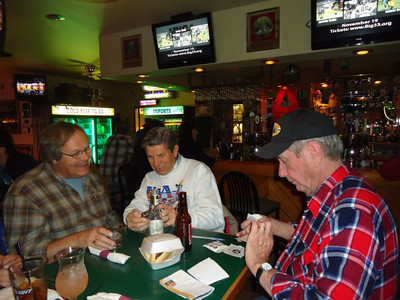 Dave Heisey, Bill Zinkham, and Jack Redd at the Stoney Creek Tavern.