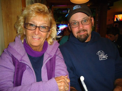 Donna and E.J. Kowalski at the post-event dinner at the Stoney Creek Tavern.