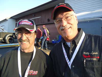 Rich Panicaro of Drag Racers Reunion and Ted Pappacena of Drag Racing Imagery.