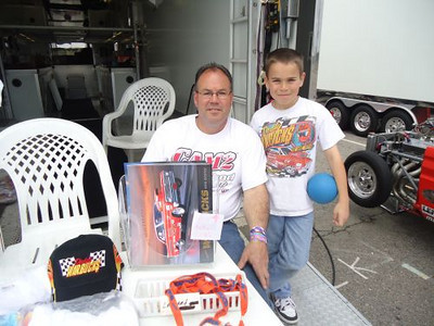 Pat Estevez and his son, who is already a successful Junior Dragster racer.