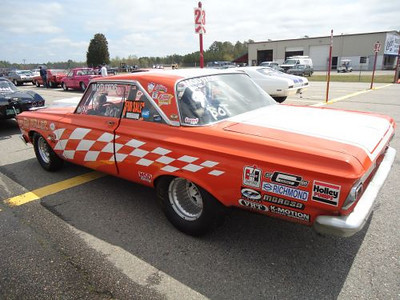Legendary Virginia Mopar racer Ed Miller was on hand with his big orange Dodge.