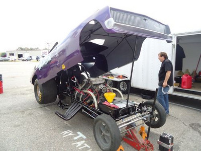 Troy Ray's 1968 Dodge Charger funny car.