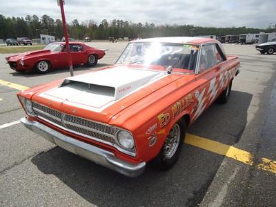 Legendary Virginia Mopar racer Ed Miller was on hand with his big orange Dodge.