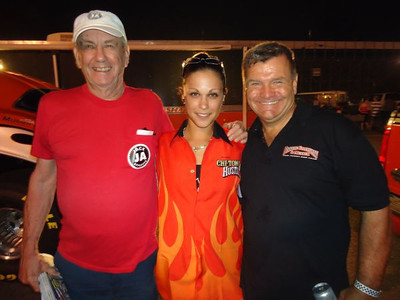 Jack Redd, Michele Feil, and Rocky Pirrone. Rocky and partner Steve Musser had fun despite hurting the Trans Am. The Pirrone, Ellershaw, and Musser pit served as the primary party location after the event!