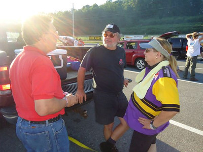 Announcer Jim Krassowski talks with Danny and Donna O'Day.
