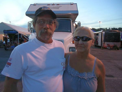 "Fiberglass man extraordinaire Rick ""Pappy"" Stief and wife Vicki took in the race."