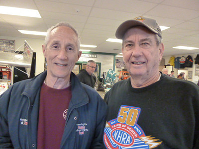 Maryland sprint racing legend Rick Mandelson and old friend Jack Redd.