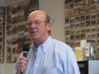 Motorsports commentator and magazine editor Dick Berggren was on hand to greet the drag racing fans and to share some thoughts on NASCAR and early drag racing. Dick returned on Sunday to greet the roundy-round racing fans at Day Two of the EMMR Open House.