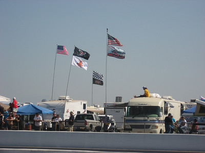 The flags were waving proudly in the spectator pits (and indicated a pretty good tailwind).